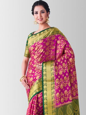 Pink Designer Traditional Saree