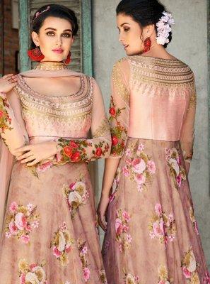 Pink Digital Print Lehenga Choli
