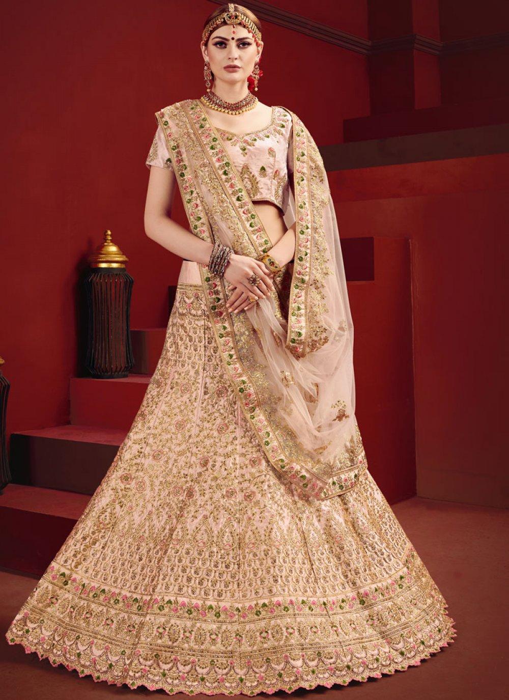 Pink Dori Work Designer Lehenga Choli