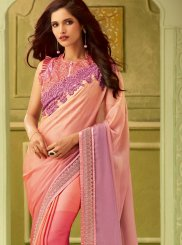 Pink Embroidered Classic Saree