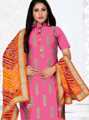 Pink Embroidered Festival Churidar Designer Suit