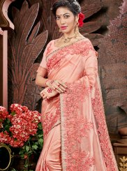 Pink Embroidered Party Classic Saree