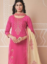 Pink Embroidered Salwar Kameez