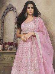 Pink Embroidered Sangeet Designer Lehenga Choli