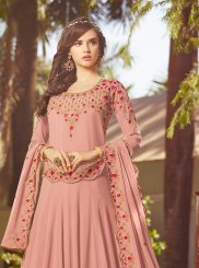 Pink Embroidered Wedding Anarkali Suit