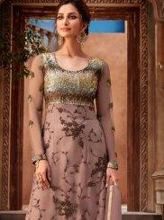 Pink Embroidered Wedding Designer Pakistani Suit
