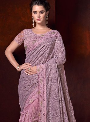 Pink Fancy Fabric Classic Saree