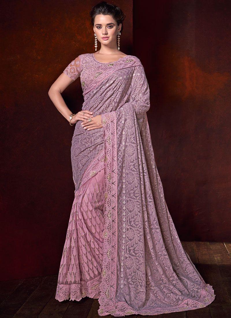 Pink Fancy Fabric Classic Saree