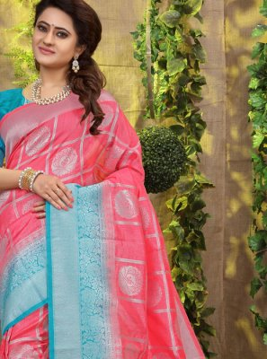 Pink Fancy Fabric Designer Traditional Saree