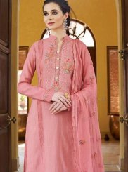 Pink Fancy Fabric Festival Designer Pakistani Suit