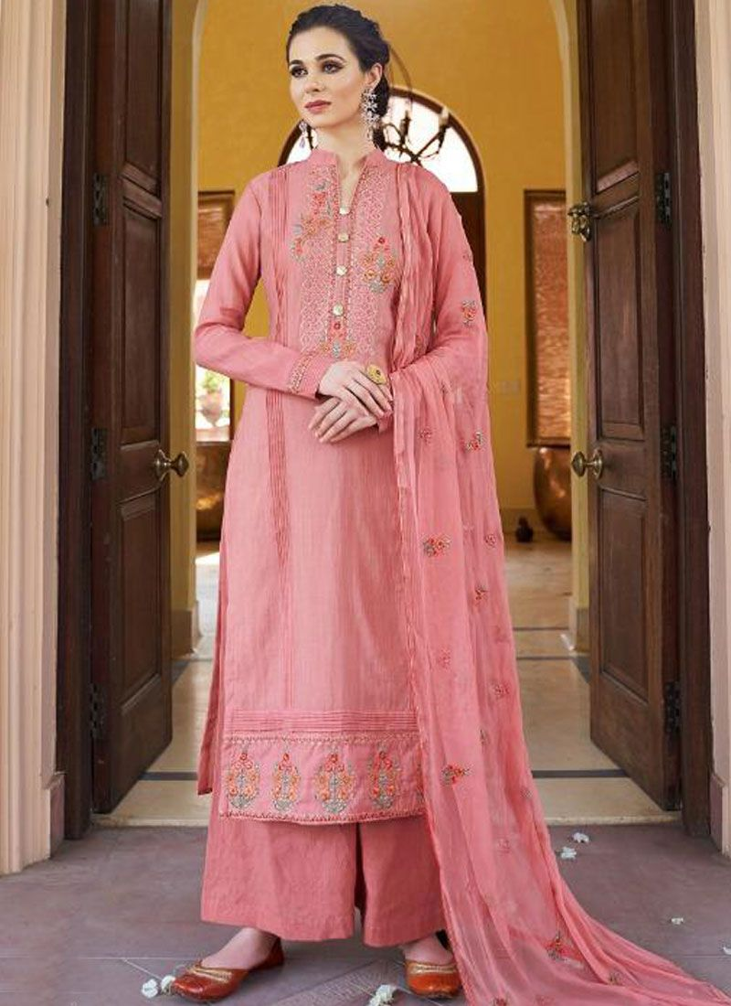 Pink Fancy Fabric Festival Designer Pakistani Suit