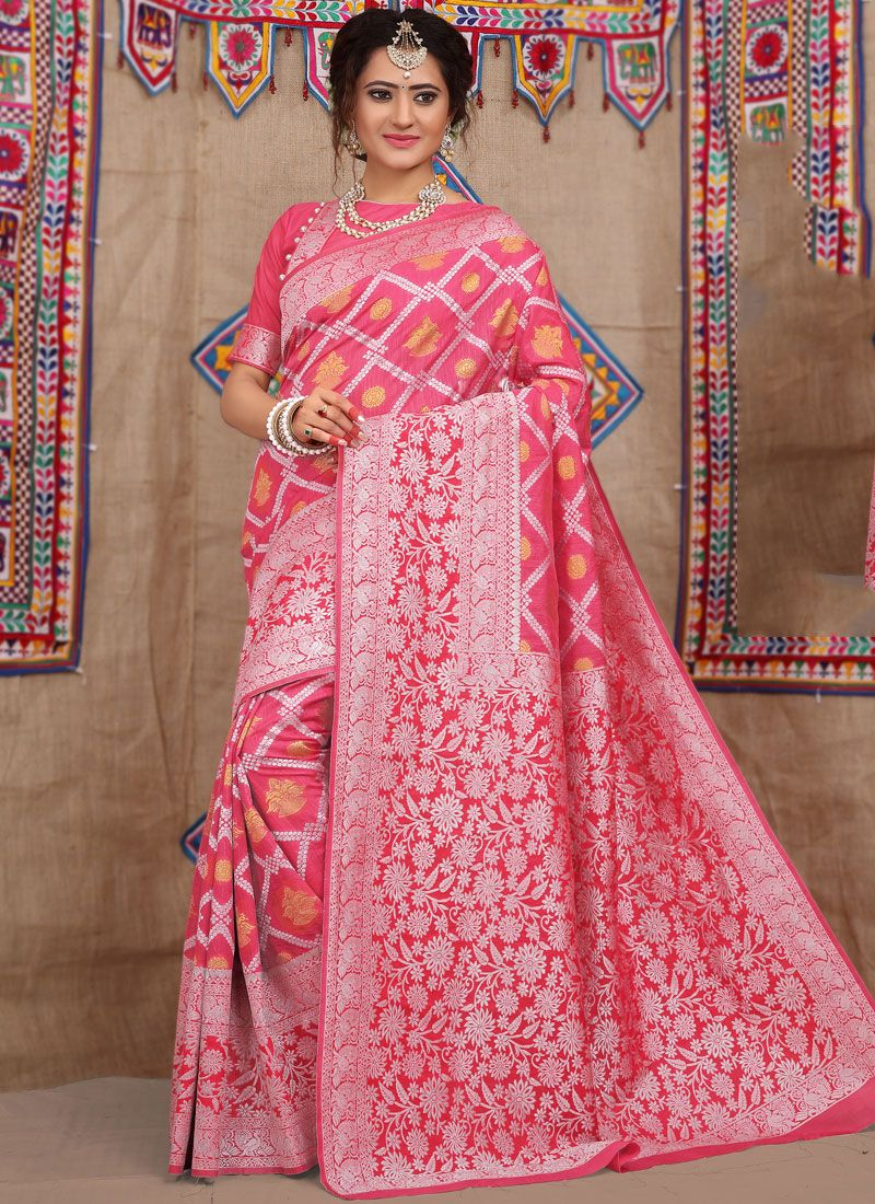 Pink Fancy Fabric Traditional Designer Saree