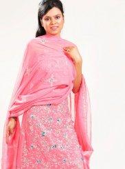Pink Fancy Faux Georgette Lehenga Choli