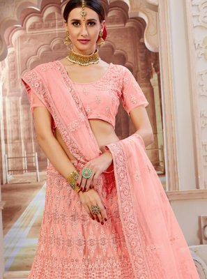 Pink Fancy Net Lehenga Choli