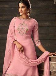 Pink Faux Crepe Designer Salwar Suit