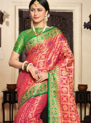 Pink Festival Art Silk Traditional Designer Saree