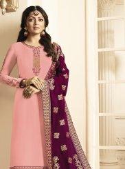 Pink Festival Churidar Suit