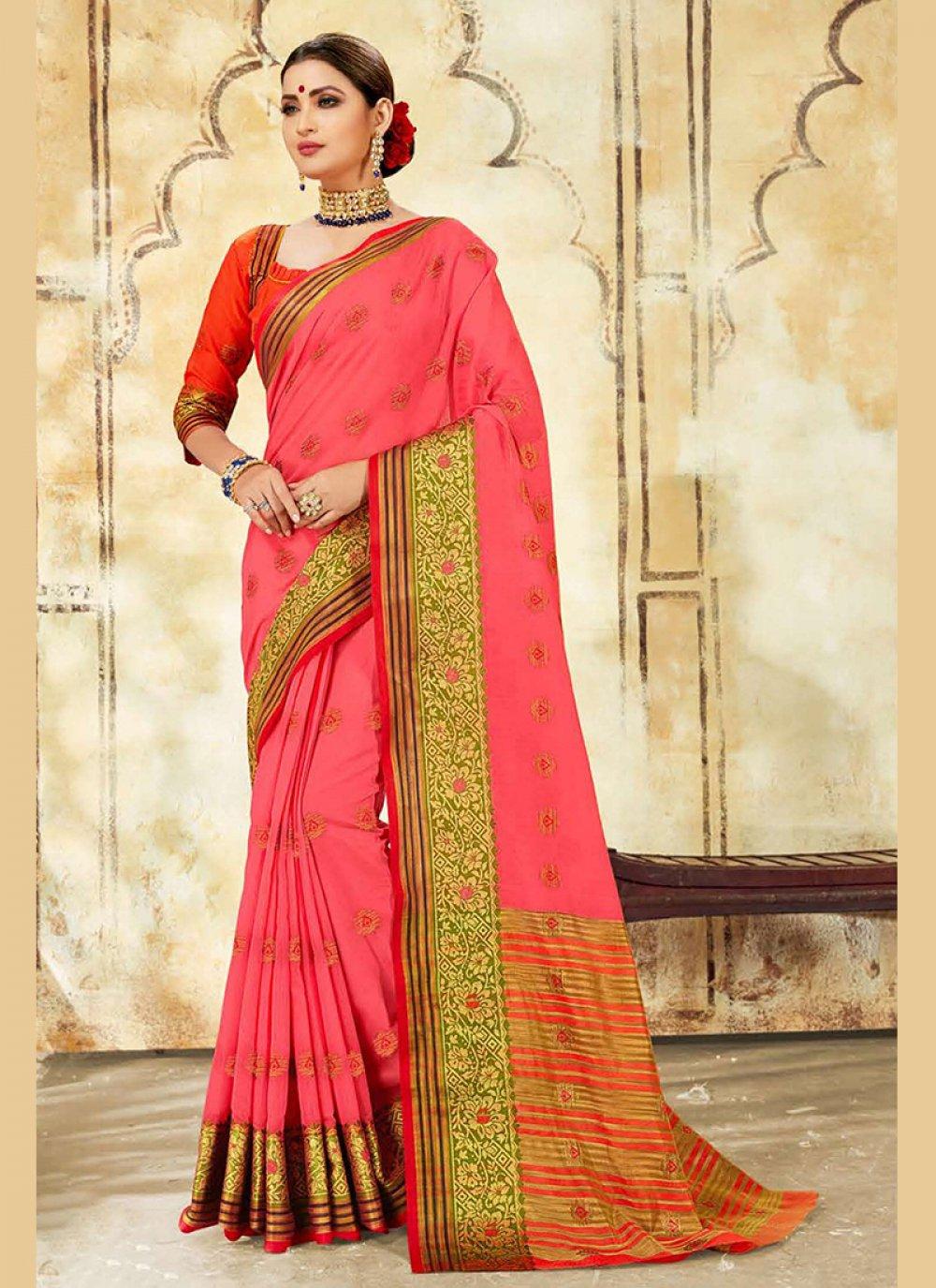 Pink Festival Cotton Silk Designer Traditional Saree