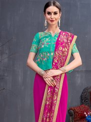 Pink Festival Traditional Saree