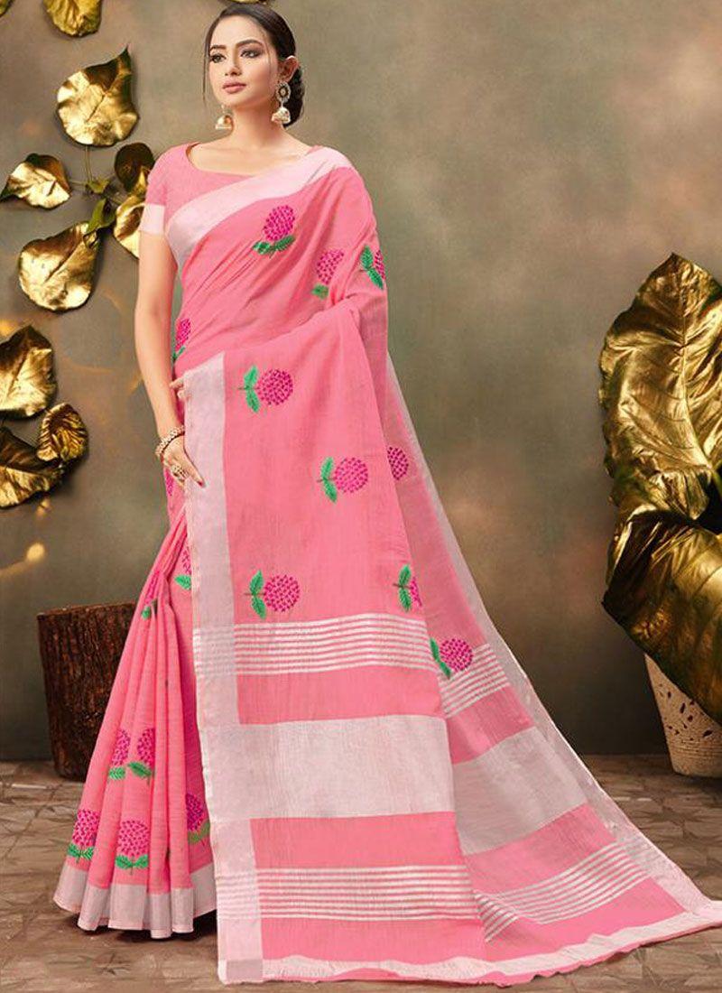 Pink Festival Trendy Saree