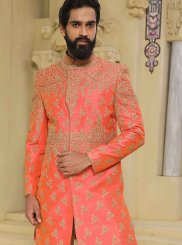 Pink Handwork Sherwani