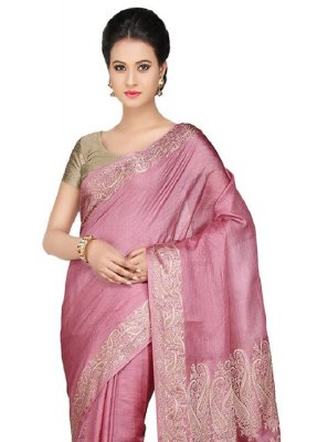 Pink Mehndi Designer Traditional Saree