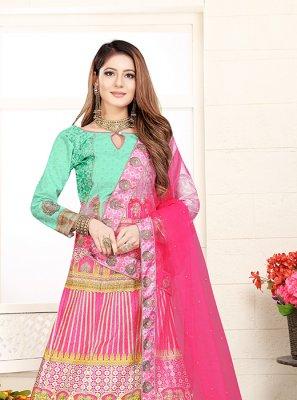 Pink Mehndi Lehenga Choli