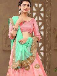Pink Net Butta Designer Lehenga Choli