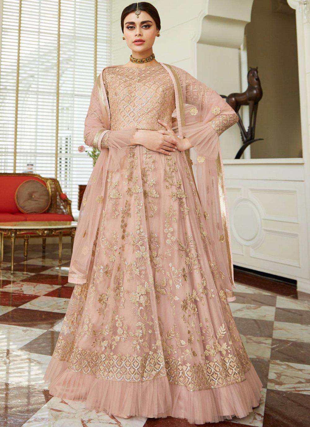 Pink Net Lehenga Choli