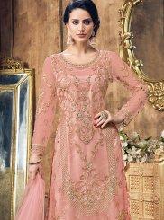 Pink Net Pakistani Salwar Kameez