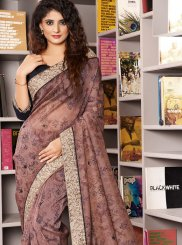 Pink Organza Traditional Saree