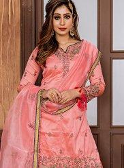Pink Palazzo Salwar Suit