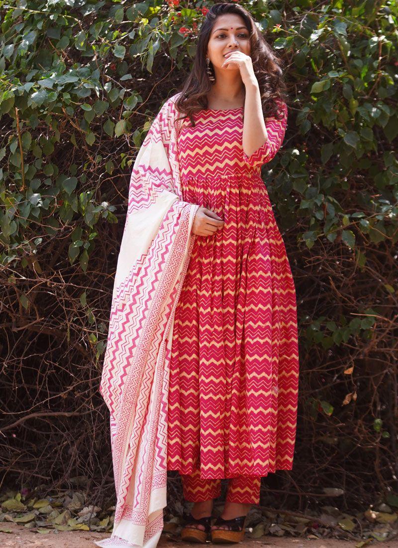 Pink Party Cotton Pakistani Salwar Kameez