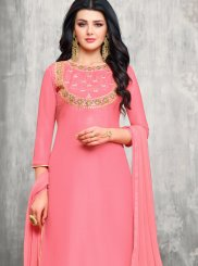 Pink Party Designer Palazzo Suit