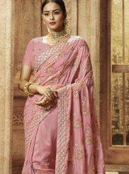 Pink Patch Border Classic Designer Saree