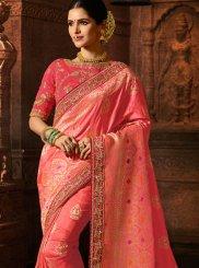 Pink Patch Border Classic Saree