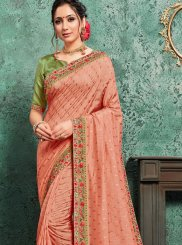 Pink Poly Silk Traditional Saree