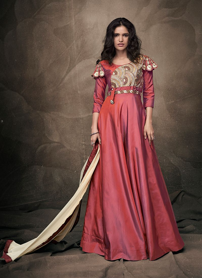 Pink Readymade Gown