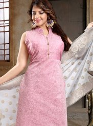 Pink Reception Churidar Designer Suit