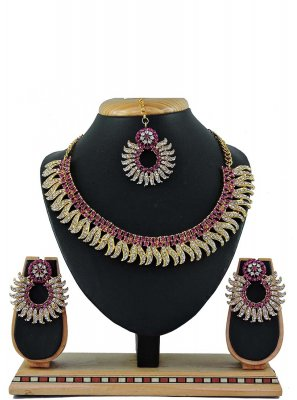 Pink Reception Necklace Set