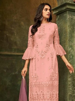Pink Reception Salwar Kameez