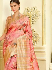 Pink Reception Silk Trendy Saree