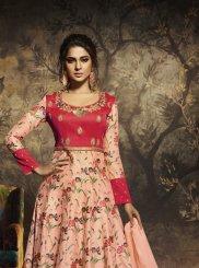 Pink Resham Anarkali Suit