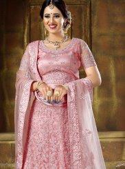 Pink Resham Bridal Lehenga Choli
