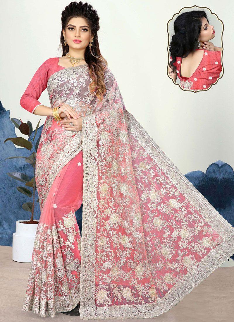 Pink Resham Classic Designer Saree