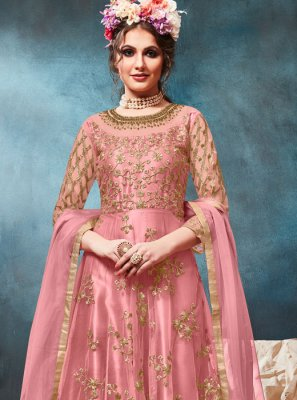 Pink Resham Festival Floor Length Anarkali Suit