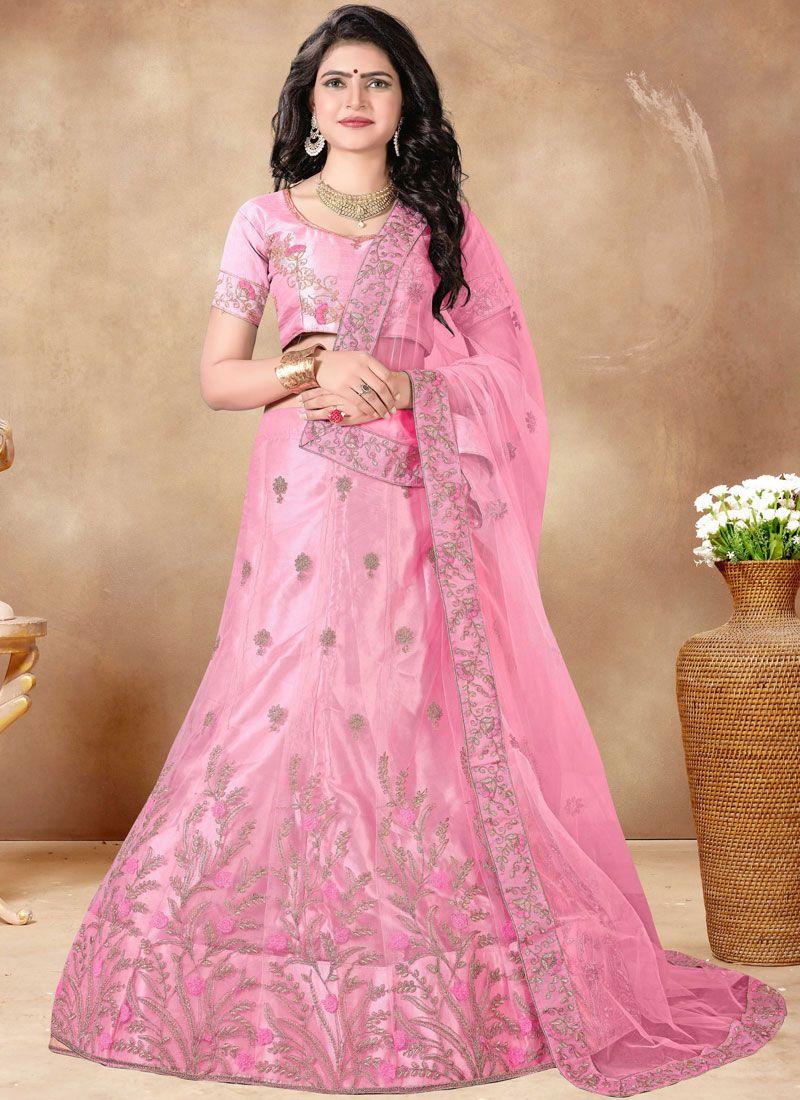 Pink Resham Lehenga Choli