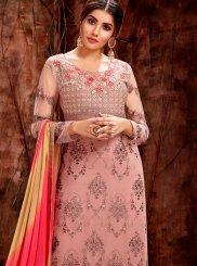 Pink Sangeet Designer Straight Salwar Suit