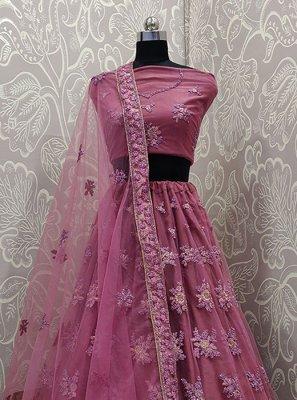 Pink Sangeet Lehenga Choli
