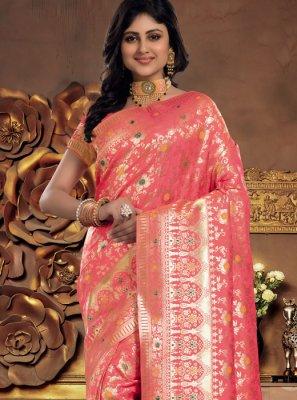 Pink Sangeet Silk Classic Saree